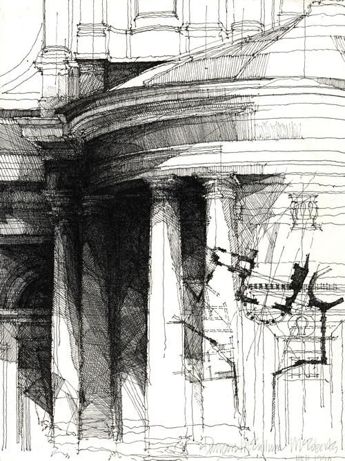 An architecture illustration that is so wonderfully done...  yes!