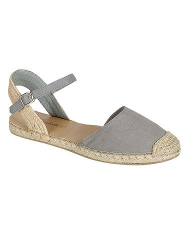 Love this Gray Emerson Closed-Toe Sandal by Breckelle's on #zulily! #zulilyfinds