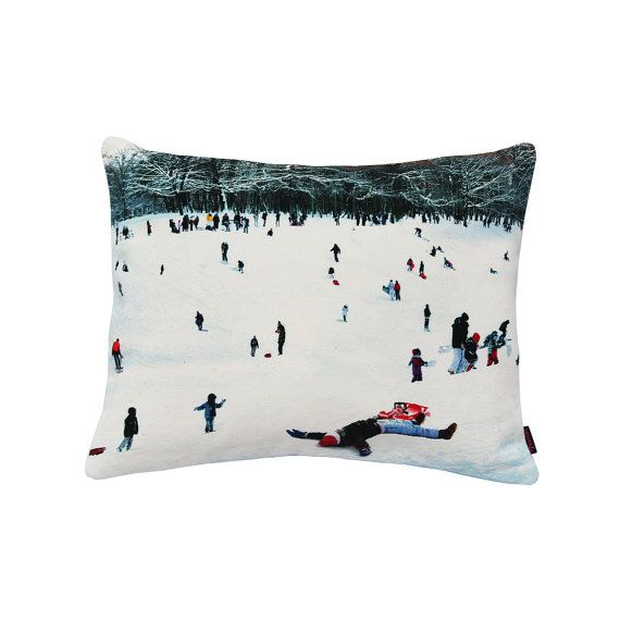 Handmade Designer Snow Sleigh Cushion by Textiler
