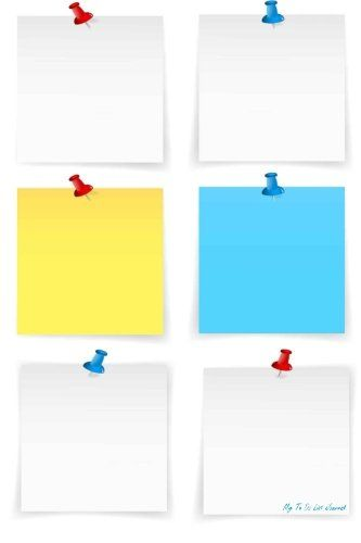 My To Do List Journal: Blank Sticky Notes Vector, 6 x 9, 100 Days, To Do List Planner