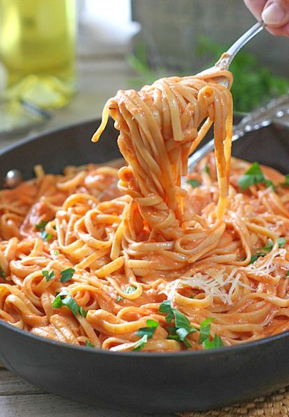 Pasta with Tomato Cream Sauce (Gluten Free Recipes Meals)