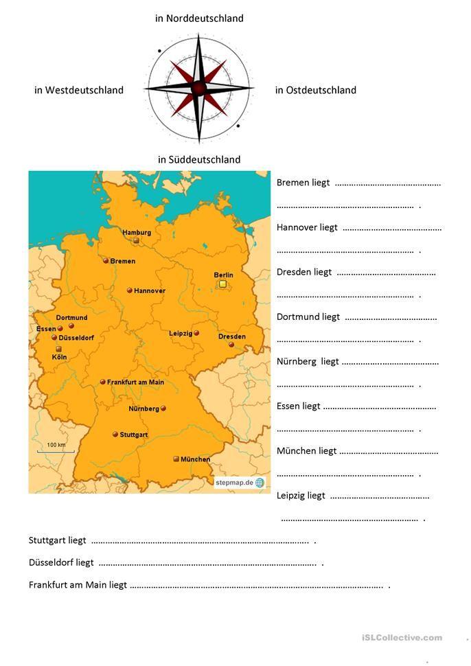 himmelsrichtungen deutschlandkarte Himmelsrichtungen | Himmelsrichtungen, Gradnetz der erde, Kartenkunde
