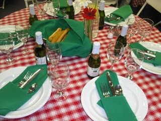 "We did an ""Italian Bistro""  theme catering event for the Doctor's Appreciation Day on March 31st.  Menu:  Pasta bar -  *Tiger-stripped butte..."
