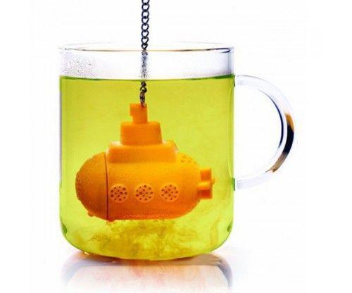 Sárga tengeralattjáró teatojás vagy teafilter - szilikon teaszűrő