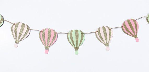 Hot Air Balloons Garland  Hot Air Balloon by EndearingCreations3