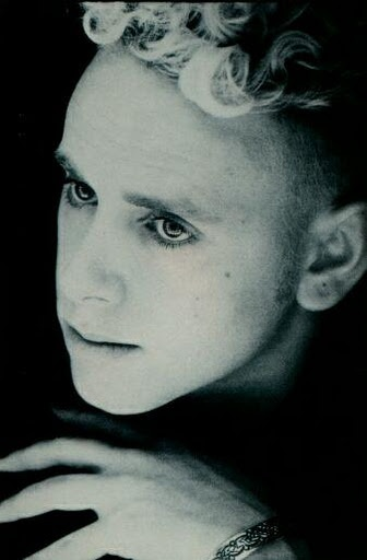 Martin Gore.  Most ladies tend to prefer Dave Gahan, but I've always thought Martin Gore was the sexiest member of Depeche Mode.  He has the most beautiful, graceful, and gentle expressions.