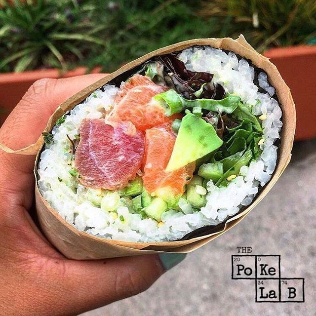 Have you tried our Sushi Burritos?? ⠀ -⠀ Stop in today or bypass the line by ordering them online!!! - Order online at www.ThePokeLab.com or got to the App Store and download The Poke Lab App and place your online order. -⠀ #ThePokeLab #PokeLab #Poke #PokeBowl #Poki #PokiBowl #SushiBurrito #Sushirrito #Pokerrito #OnlineOrdering #VIP #SkipTheLine #Monterey #CarmelByTheSea #Carmel #AlvaradoStreet #CanneryRow #FishermansWharf #BigSur #SeeMonterey #Verlasso #Salmon #SeafoodWatch…