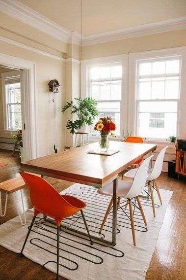Arredare un appartamento per coppia - Appartamento dal gusto retrò