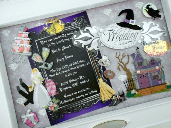 HALLOWEEN WEDDING Wedding Invitation Keepsake Box By Theshadowbox 12500