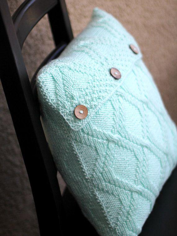 Knit Pillow Case Decorative Pillow Cable Pillow Cover