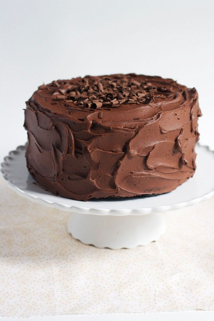 Classic (One Bowl) Chocolate Cake- The Baker Chick