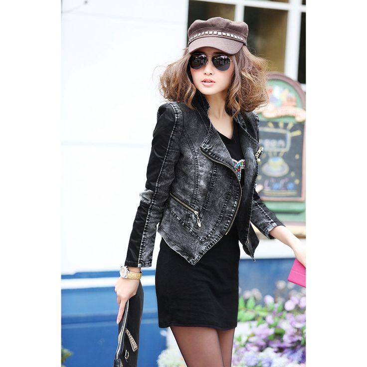Black dress jean jacket manufacturers