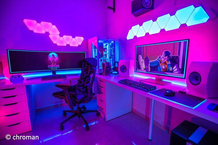 gaming setup gamer 4k pc ultimate computer 144hz 8k insane sick setups desktop gamers ultrawide fortnite battlestations led desk einrichten