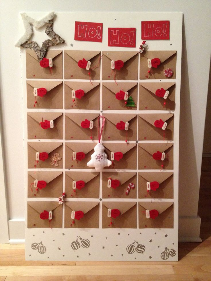 DIY advent calendar - little envelopes