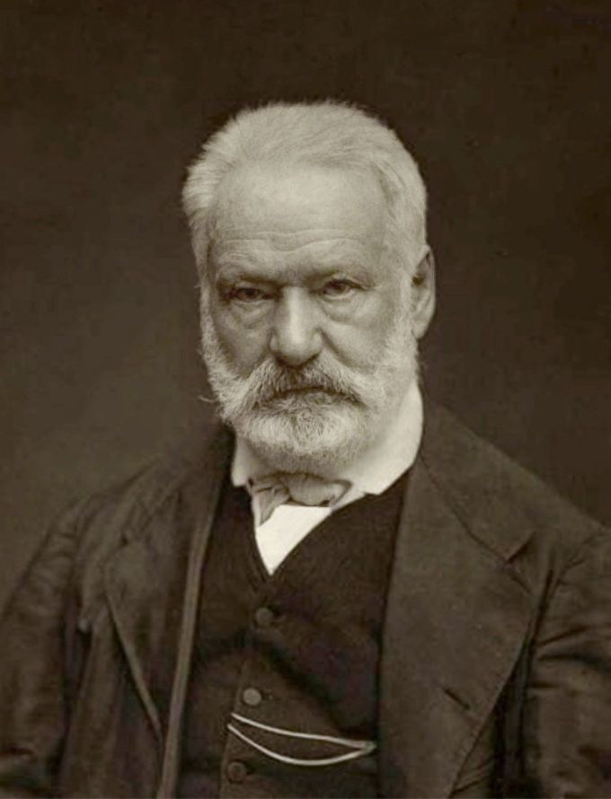 Victor Hugo - 26 February 1802 – 22 May 1885) was a French poet, novelist, and dramatist of the Romantic movement. He is considered one of the greatest and best known French writers. In France, Hugo's literary fame comes first from his poetry but also rests upon his novels and his dramatic achievements. His best-known works are the novels Les Misérables, 1862, and Notre-Dame de Paris, 1831 (known in English as The Hunchback of Notre-Dame).