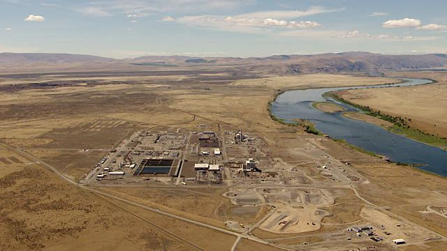 Ws Aerial View Of Hanford Site Nuclear Production Complex On ...