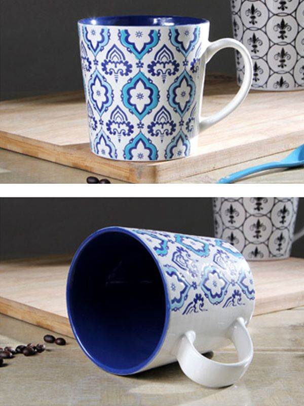Ethnic Pattern Large Volume Ceramic Drinking Cup & Dining - at Jollychic