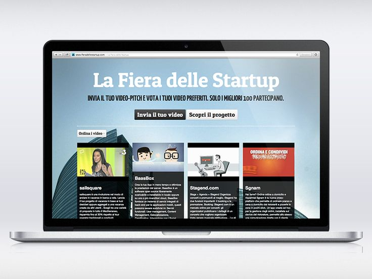 Fiera delle Startup - a responsive website built with #Bootstrap and #Isotope