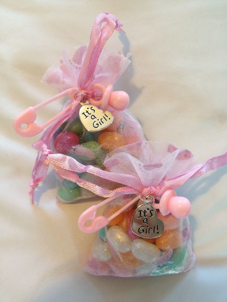 It's a girl! Baby shower party favors.