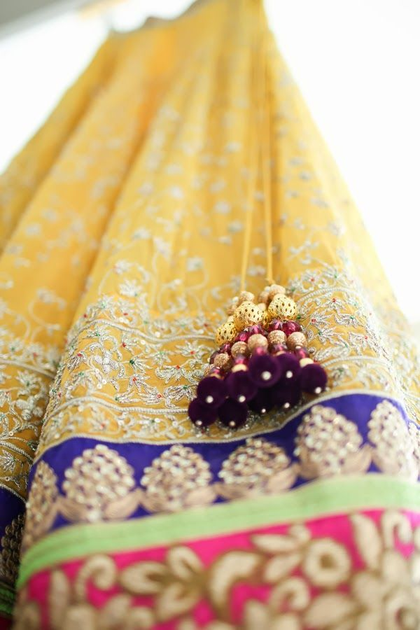 Sunny yellow lehenga for a day wedding!