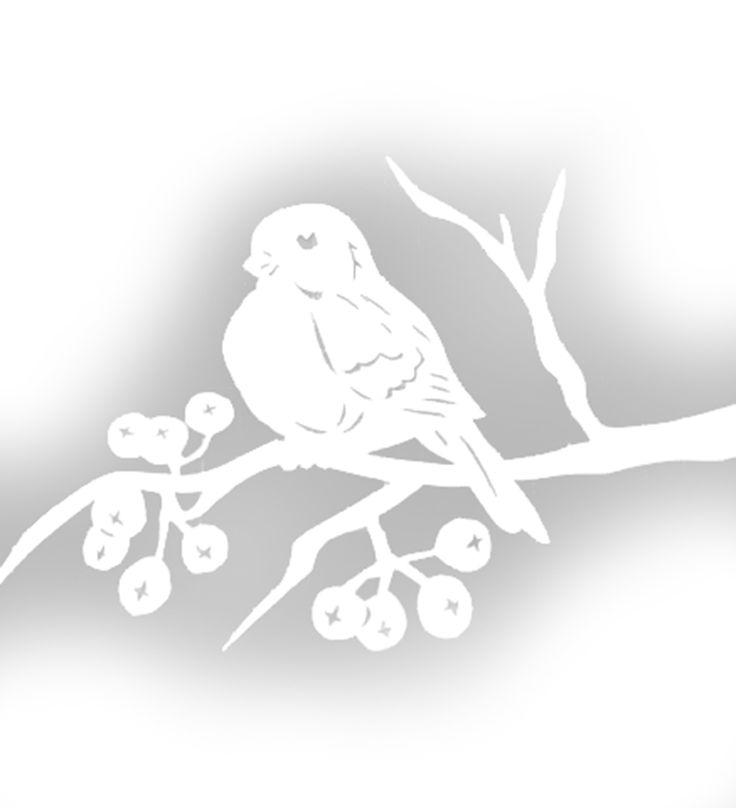 красивые картинки веток деревьев вырезать из бумаги на окно