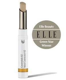 Elle Magazine's round-up of the 29 Greatest Green Beauty Products article names Best Concealer for 2013: Dr. Hauschka Coverstick