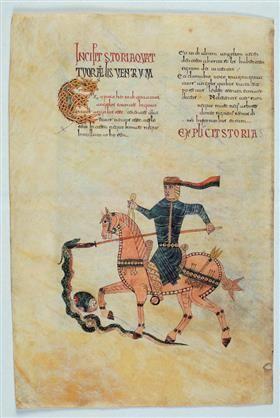 Pre-Romanesque - The rider defeating the snake - Ende