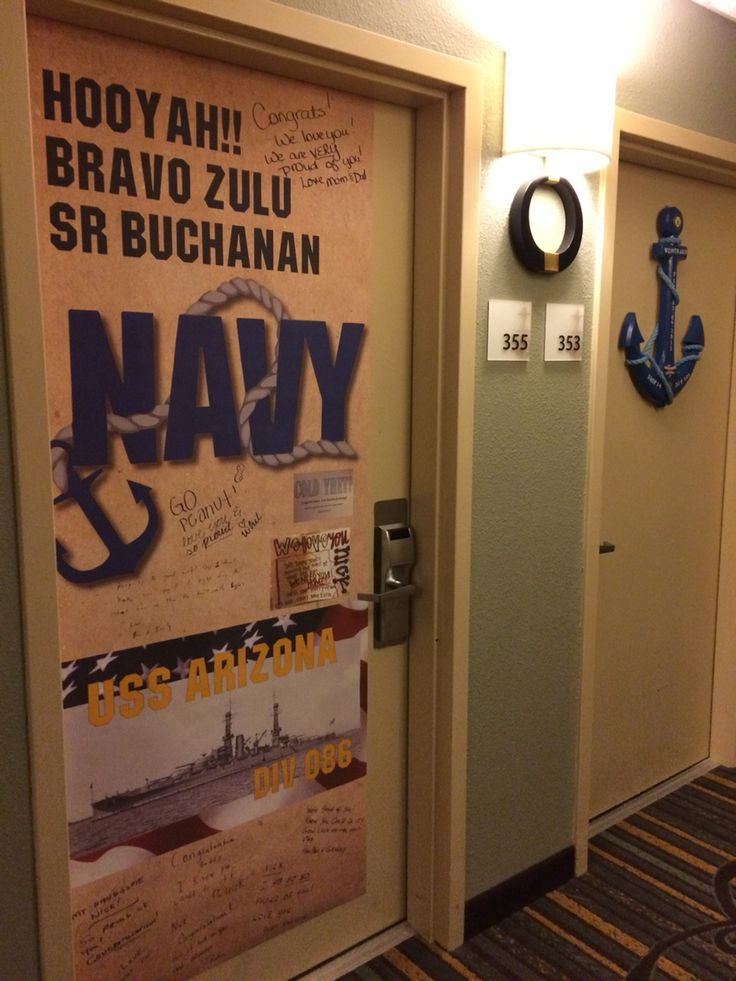 17 best images about pir navy graduation hotel door