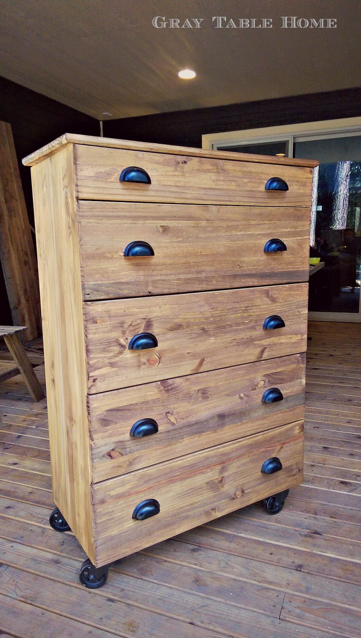 "I added ""IKEA Hack: TARVA Dresser | Gray Table Home"" to an ..."