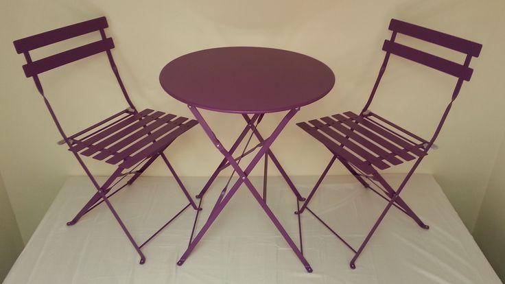 Purple patio furniture