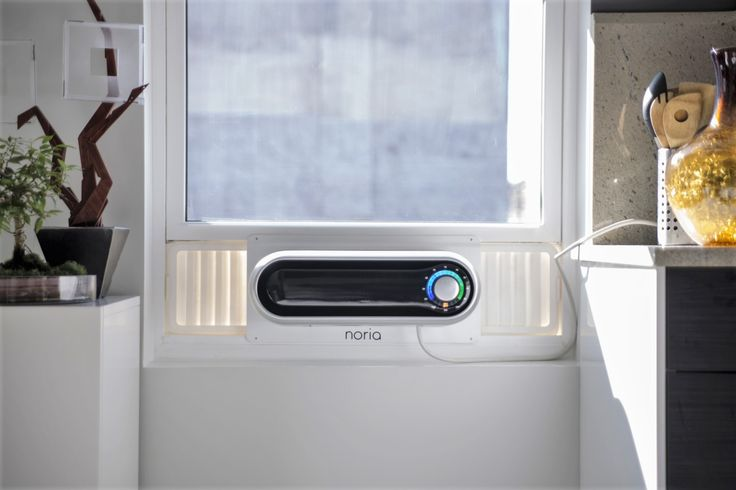 A Revolution In Home Comfort  Noria is a 5,000 BTU window air conditioner that was designed to address all the pain points of current window air conditioners.  From beautiful design to easy installation to remote connectivity and schedule creation, Noria makes living with a window air conditioner a pain-free experience.