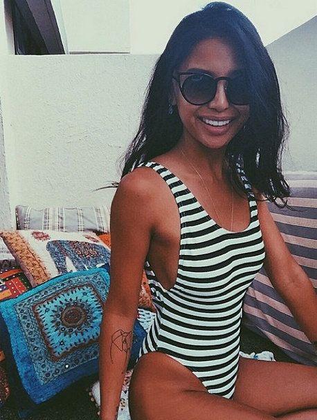 80's style HIGH cut swimwear ∆ NEW ∆ Nautical black & white stripe ∆ 90s One-piece Swimwear ∆ One piece High Cut Swimsuit ∆ Hi-cut One Piece
