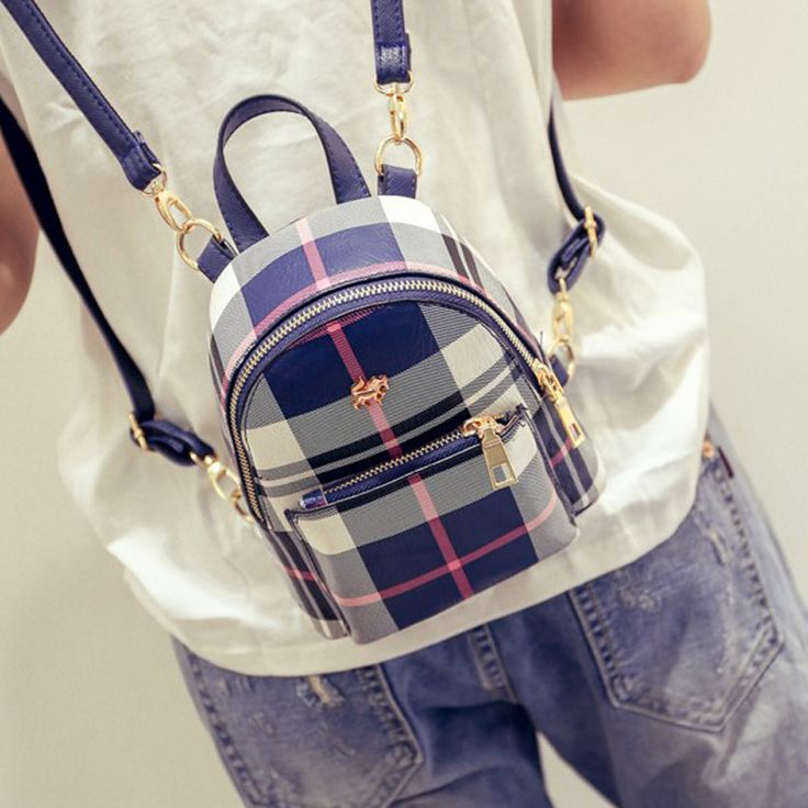 Cheap bag slap, Buy Quality bag piper directly from China bag dell Suppliers: 2016 New hot Multifunctional summer England Plaid women backpack sweet lady backpack Mini fashion shoulder bag small Korea bag
