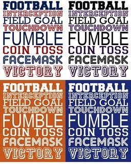 Football - Free Printable - Great for Super Bowl Party