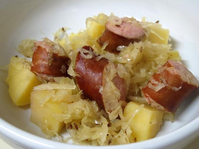 slow cooker sauerkraut and sausage recipe dishmaps slow cooker ...