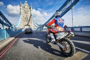 Sam Sunderland Takes Red Bull KTM Factory Rally Machine for London City Tour - http://superbike-news.co.uk/wordpress/sam-sunderland-takes-red-bull-ktm-factory-rally-machine-for-london-city-tour/