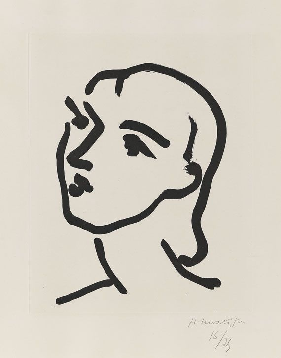 Henri Matisse - Nadia aux cheveux lisses, Etching and aquatint