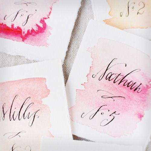Handmade name cards for seating plus 7 more DIY wedding decoration ideas: http://www.womenshealthmag.com/life/wedding-decorations?cm_mmc=Pinterest-_-WomensHealth-_-content-life-_-diyweddingdecor