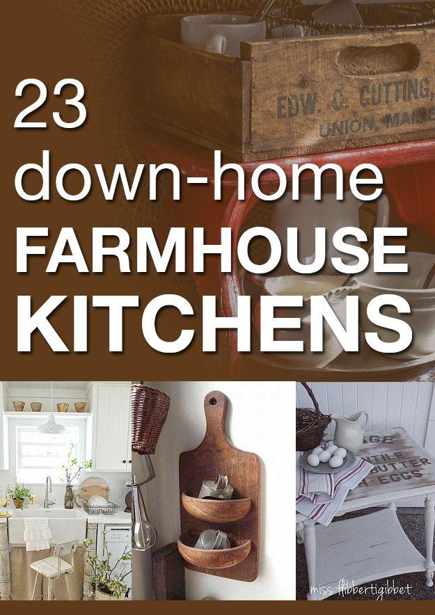 23 down-home farmhouse kitchens