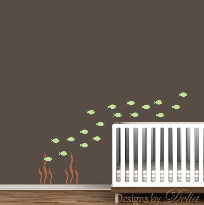 Nursery Wall Decal with School of Fish