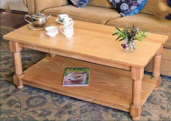 Glass Topped Coffee Table Plans - Furniture Plans and Projects | WoodArchivist.com