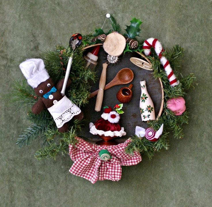 Christmas Kitchen Decor, Rustic Christmas Decor, Primitive Christmas Decor, Rustic Kitchen Decor, Farmhouse Decor, Cottage Christmas, Wreath by VintageShopCreations on Etsy
