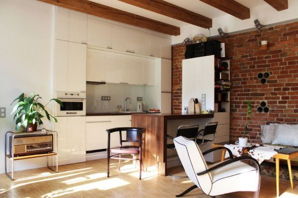50 Square Meter Apartment With An Unconventional Interior Design