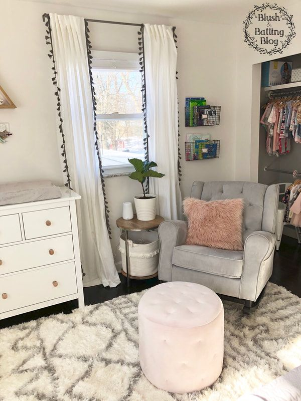 Baby Girl Nursery Tour | Delta Emma Rocking Chair | Blush and Batting Blog