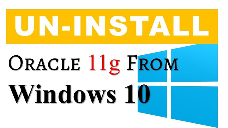 How To Uninstall oracle database 11g from Windows 10 64 bit without formatting your computer by manish sharma rebellionrider