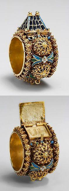 Jewish betrothal ring, ca. 17th–19th century. Venice or Eastern Europe. The Metropolitan Museum of Art, New York. Gift of J. Pierpont Morgan, 1917