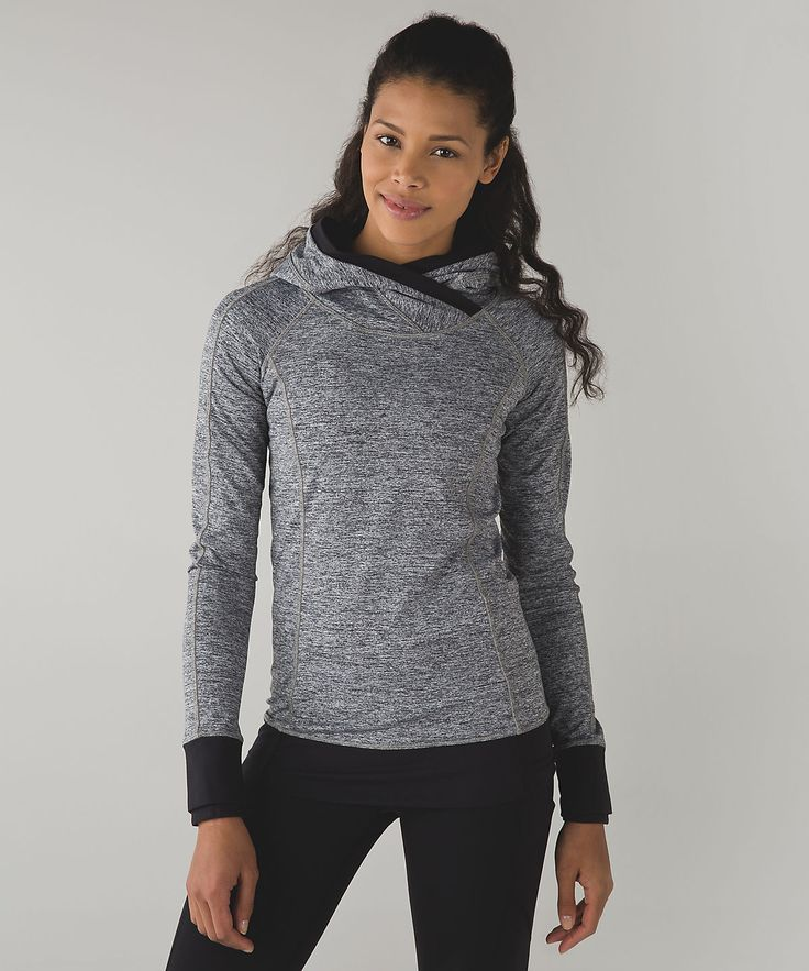 Love the black trim. @lululemon Think Fast Hoodie