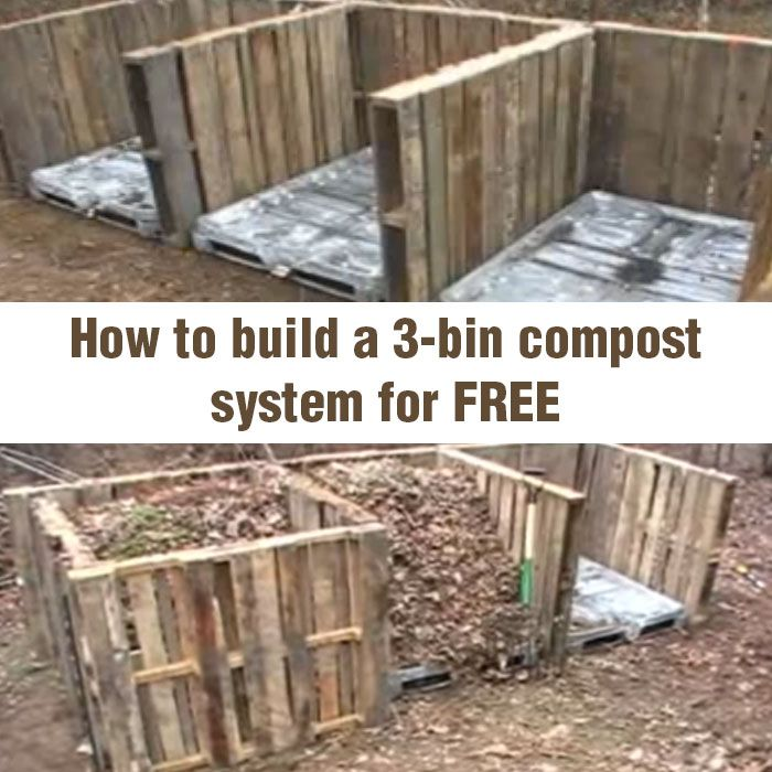 For hertiage garden, children's area::::How to Build a 3-bin Compost System for FREE | Off Grid World