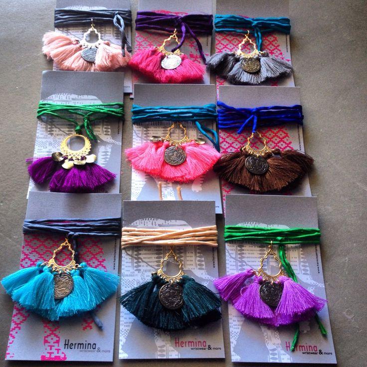 Delhi silk necklaces - India, gypsy, boho, bohemian www.herminawristwear.com