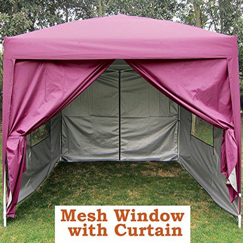 Big SalesQuictent Privacy 8x8 Pink EZ Pop Up Party Tent Canopy Gazebo Mesh Curtain 100 Waterproof ** Check out the image by visiting the link.